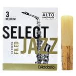 DAddario Woodwinds Select Jazz Filed Alto 3M