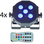 Fun Generation SePar Quad LED RGB UV Bundle 4