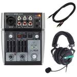 Behringer Xenyx 302USB Headset Bundle