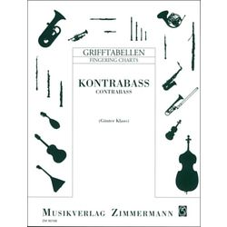 Grifftabelle Kontrabass Zimmermann Verlag
