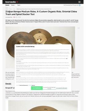 Zildjian Kerope Medium Rides, K-Custom Organic Ride, Oriental China Trash und Spiral Stacker