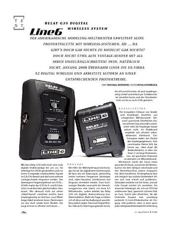 Gitarre & Bass Line6 Relay G30 Digital Wireless System