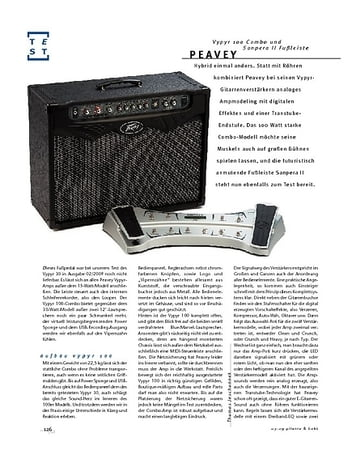 "Gitarre & Bass ""Peavey Vypyr 100 & Sanpera II; Modeling-Combo"""
