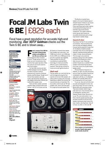 Future Music Focal Twin 6 BE