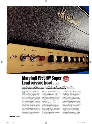 Guitarist Marshall 1959HW Super Lead reissue head
