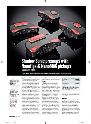 Guitarist Shadow Sonic SonicBasic