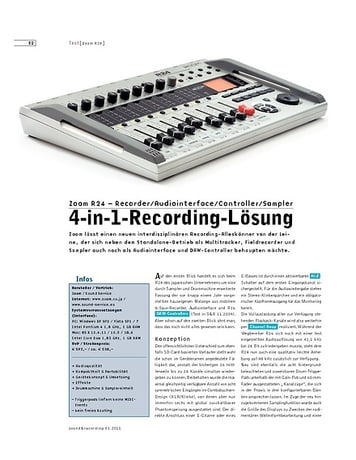 Sound & Recording Zoom R24 – Recorder/Audiointerface/Controller/Sampler