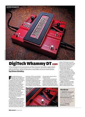 Guitarist DigiTech Whammy DT