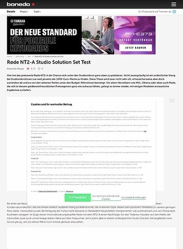 Bonedo.de Røde NT2-A Studio Solution Set
