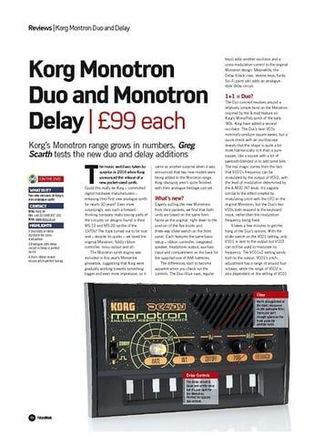 Future Music Korg Monotron Duo