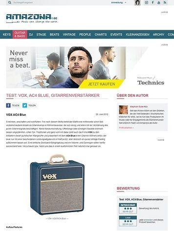 Amazona.de Test: VOX, AC4 Blue, Gitarrenverstärker