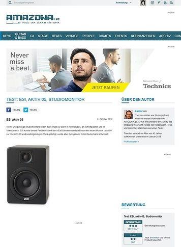 Amazona.de Test: ESI, aktiv 05, Studiomonitor