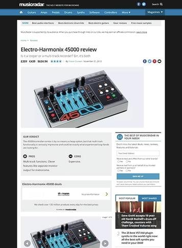 MusicRadar.com Electro-Harmonix 45000