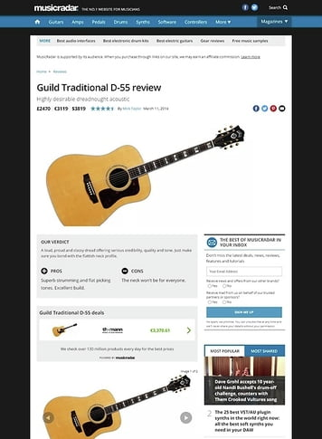MusicRadar.com Guild Traditional D-55
