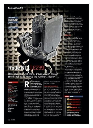 Future Music Rode NT1