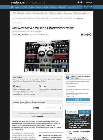 MusicRadar.com EastWest Steven Wilson's Ghostwriter