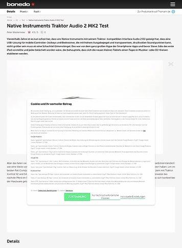 Bonedo.de Native Instruments Traktor Audio 2 MK2