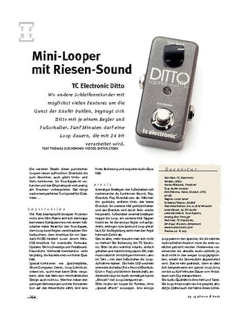 Gitarre & Bass TC Electronic Ditto, Looper