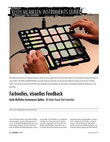 Sound & Recording Keith McMillen Instruments QuNeo - 3D Multi-Touch Pad Controller
