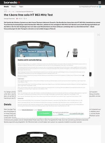Bonedo.de the t.bone free solo HT 863 MHz