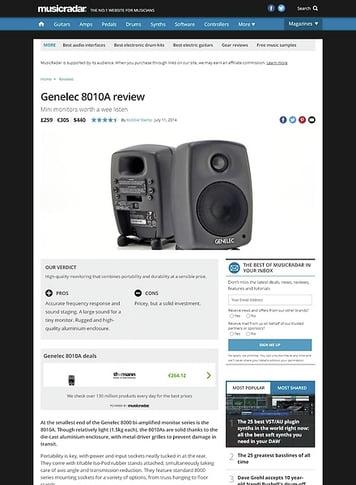 MusicRadar.com Genelec 8010A