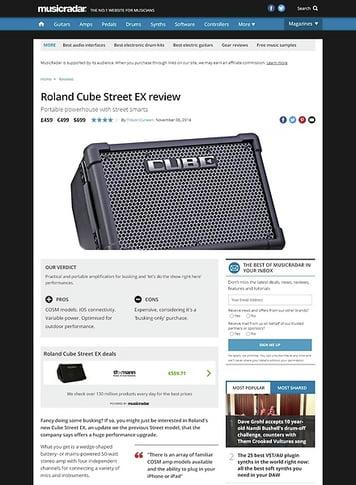 MusicRadar.com Roland Cube Street EX