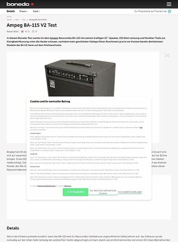 Bonedo.de Ampeg BA-115 V2