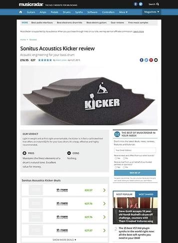 MusicRadar.com Sonitus Acoustics Kicker