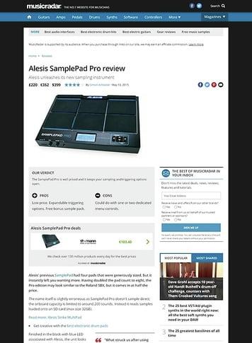 MusicRadar.com Alesis SamplePad Pro