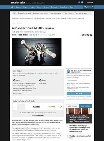 MusicRadar.com Audio-Technica AT5045