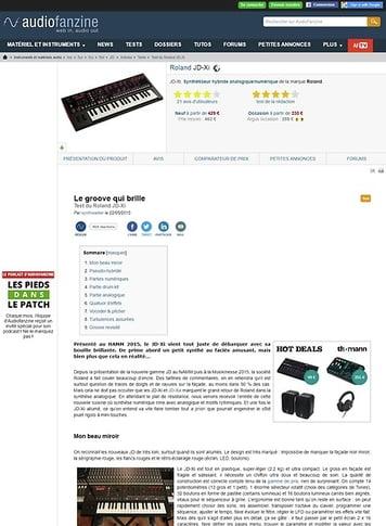 Audiofanzine.com Roland JD-Xi