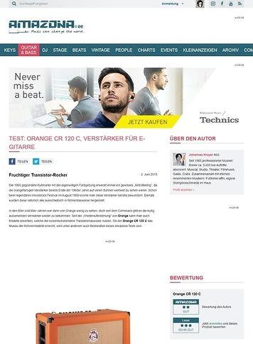 Amazona.de Test: Orange CR 120 C, Verstärker für E-Gitarre