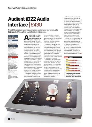 Future Music Audient iD22 Audio Interface