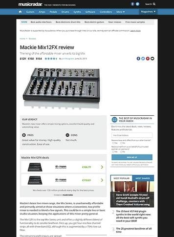 MusicRadar.com Mackie Mix12FX