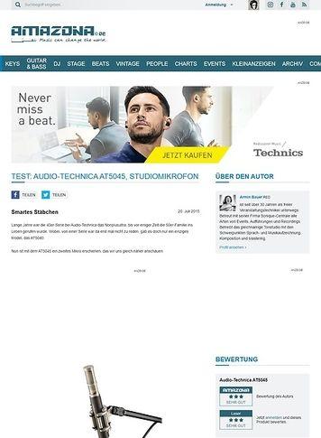 Amazona.de Test: Audio-Technica AT5045, Studiomikrofon
