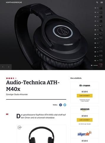 Kopfhoerer.de Audio-Technica ATH-M40 X