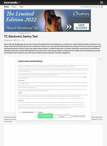 Bonedo.de TC Electronic Sentry