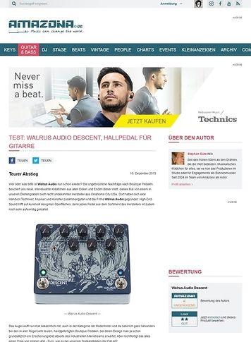 Amazona.de Test: Walrus Audio Descent, Hallpedal für Gitarre