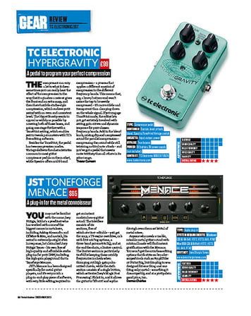Total Guitar TC Electronic Hypergravity