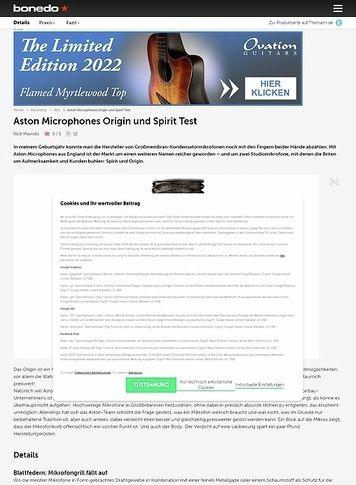 Bonedo.de Aston Microphones Origin und Spirit