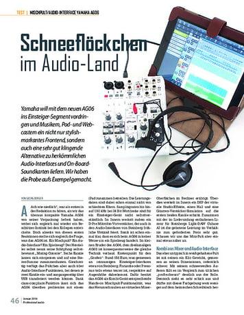 Professional Audio Yamaha AG06
