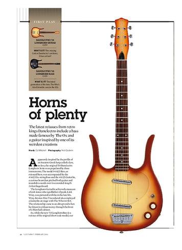 Guitarist Danelectro '58 Longhorn Bass