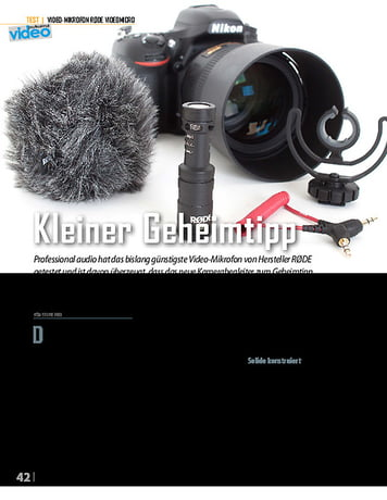 Professional Audio Rode Videomicro