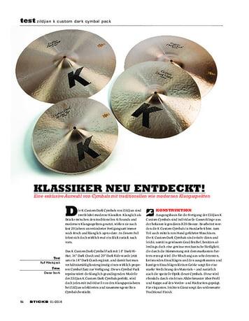 Sticks Zildjian K Custom Dark Cymbal Pack