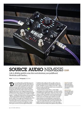 Guitarist Source Audio Nemesis