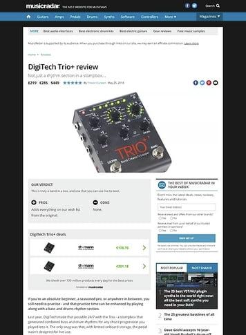 MusicRadar.com DigiTech Trio+