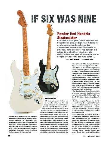 Gitarre & Bass Fender Jimi Hendrix Stratocaster, E-Gitarre