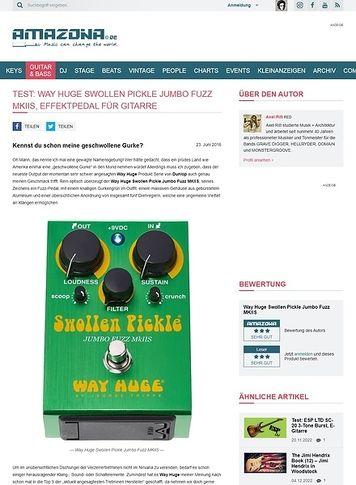 Amazona.de Test: Way Huge Swollen Pickle Jumbo Fuzz MKIIS, Effektpedal für Gitarre
