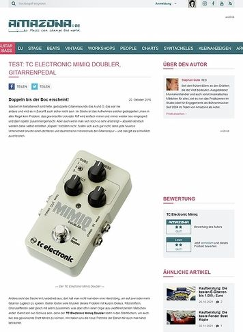 Amazona.de Test: TC Electronic Mimiq Doubler, Effektgerät für Gitarre