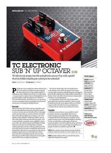 Guitarist TC Electronic Sub 'n' Up Octaver